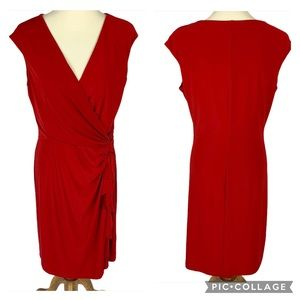 Lauren Ralph Lauren Twist Ruffle Sheath Dress 14